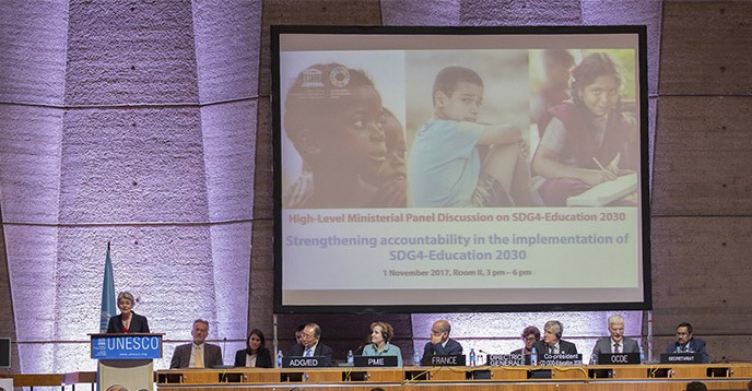 High-Level event with Education Ministers, UNESCO HQ, 1 November 2018