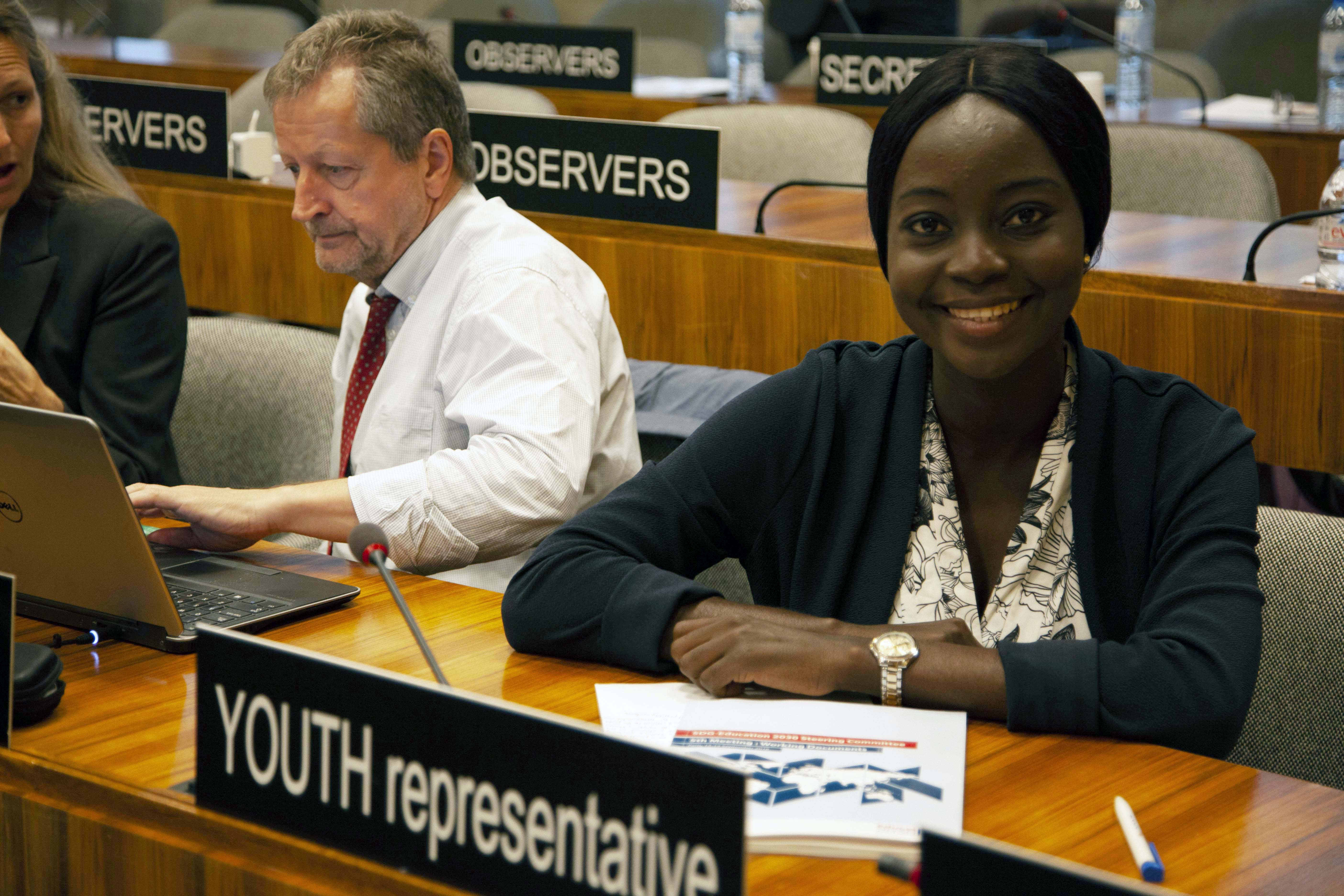 Victoria Ibiwoye Youth Representative of the SDG-Education 2030 Steering Committee c UNESCO