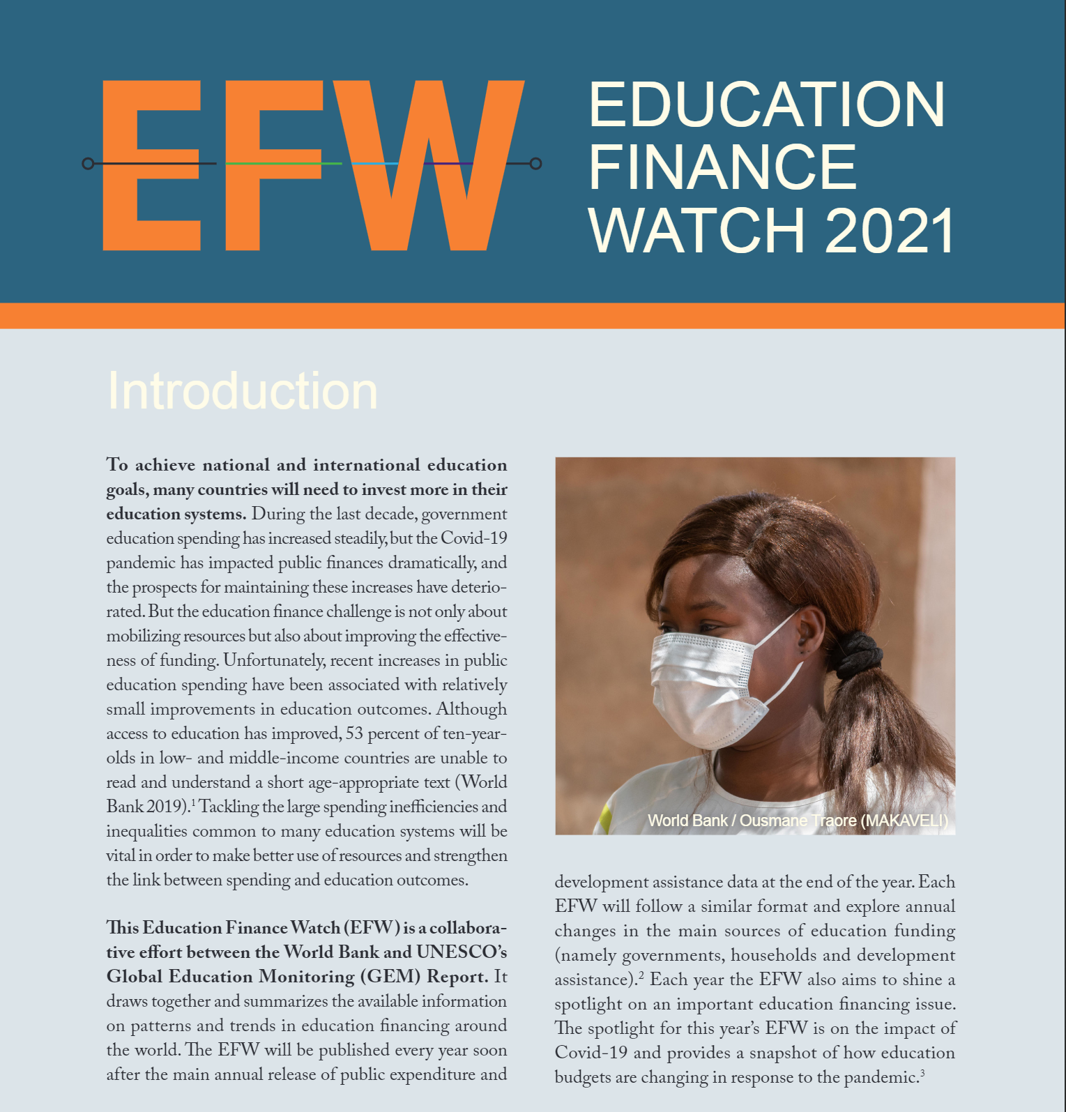 Education Finance Watch 2021